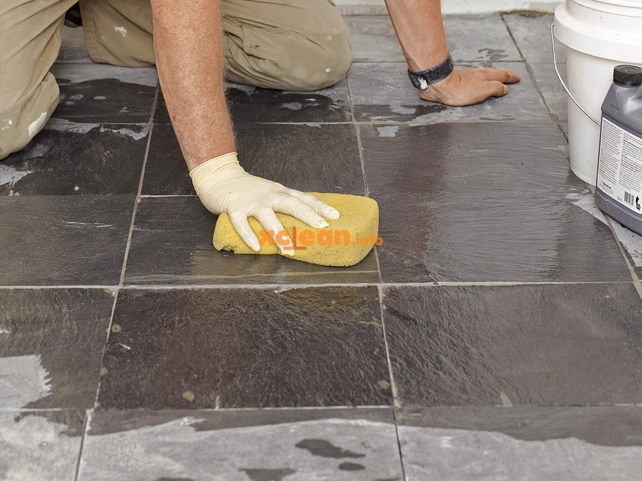 Как отмыть плитку от раствора цементного купить эпоксидную шпаклевку по бетону