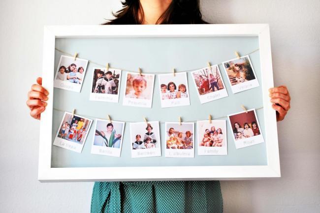 много фото в рамке
